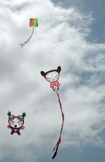 Garu and Pucca at the Oostende Kite Festival